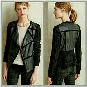 NWT ANTHROPOLOGIE elevenes black jacket